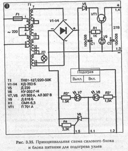 силового трансформатора Т1